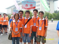 五位香港隊同學合照