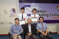 陳栢熙同學5月份將會代表香港前往加拿大參加總決賽