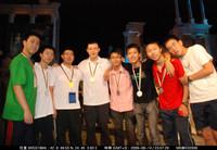 香港代表隊全體隊員與中國國家隊隊員合照