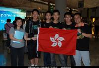 IOI 2009 香港代表隊全體隊員在香港機場合照